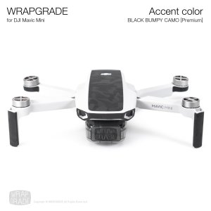 <img class='new_mark_img1' src='https://img.shop-pro.jp/img/new/icons12.gif' style='border:none;display:inline;margin:0px;padding:0px;width:auto;' />WRAPGRADE POLY for Mavic Mini 用 アクセントカラー ブラックバンピーカモ【Premium】