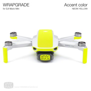 <img class='new_mark_img1' src='https://img.shop-pro.jp/img/new/icons12.gif' style='border:none;display:inline;margin:0px;padding:0px;width:auto;' />WRAPGRADE POLY for Mavic Mini 用 アクセントカラー ネオンイエロー