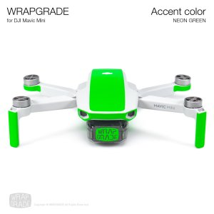 <img class='new_mark_img1' src='https://img.shop-pro.jp/img/new/icons12.gif' style='border:none;display:inline;margin:0px;padding:0px;width:auto;' />WRAPGRADE POLY for Mavic Mini 用 アクセントカラー ネオングリーン