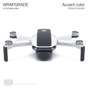 <img class='new_mark_img1' src='https://img.shop-pro.jp/img/new/icons12.gif' style='border:none;display:inline;margin:0px;padding:0px;width:auto;' />WRAPGRADE POLY for Mavic Mini 用 アクセントカラー ステルスブラック
