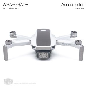 <img class='new_mark_img1' src='https://img.shop-pro.jp/img/new/icons12.gif' style='border:none;display:inline;margin:0px;padding:0px;width:auto;' />WRAPGRADE POLY for Mavic Mini 用 アクセントカラー チタニウム