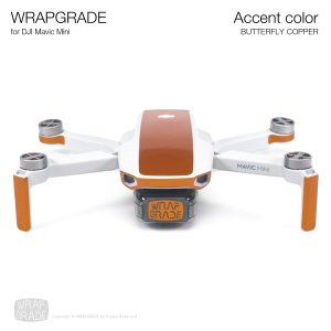 <img class='new_mark_img1' src='https://img.shop-pro.jp/img/new/icons12.gif' style='border:none;display:inline;margin:0px;padding:0px;width:auto;' />WRAPGRADE POLY for Mavic Mini 用 アクセントカラー バタフライコパー