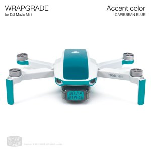 <img class='new_mark_img1' src='https://img.shop-pro.jp/img/new/icons12.gif' style='border:none;display:inline;margin:0px;padding:0px;width:auto;' />WRAPGRADE POLY for Mavic Mini 用 アクセントカラー カリビアンブルー