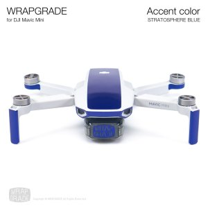 <img class='new_mark_img1' src='https://img.shop-pro.jp/img/new/icons12.gif' style='border:none;display:inline;margin:0px;padding:0px;width:auto;' />WRAPGRADE POLY for Mavic Mini 用 アクセントカラー ストラトスフェアブルー