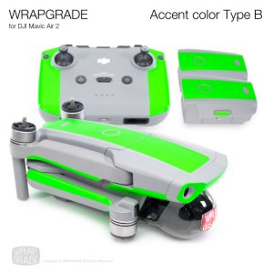 <img class='new_mark_img1' src='https://img.shop-pro.jp/img/new/icons12.gif' style='border:none;display:inline;margin:0px;padding:0px;width:auto;' />WRAPGRADE for DJI Mavic Air 2 アクセントカラー B 全20色