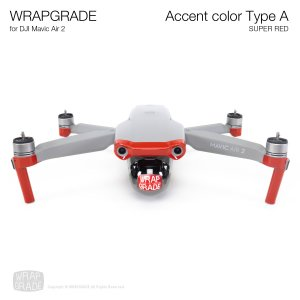 <img class='new_mark_img1' src='https://img.shop-pro.jp/img/new/icons12.gif' style='border:none;display:inline;margin:0px;padding:0px;width:auto;' />WRAPGRADE for DJI Mavic Air 2 アクセントカラー A スーパーレッド