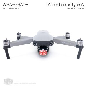 <img class='new_mark_img1' src='https://img.shop-pro.jp/img/new/icons12.gif' style='border:none;display:inline;margin:0px;padding:0px;width:auto;' />WRAPGRADE for DJI Mavic Air 2 アクセントカラー A ステルスブラック