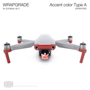 <img class='new_mark_img1' src='https://img.shop-pro.jp/img/new/icons12.gif' style='border:none;display:inline;margin:0px;padding:0px;width:auto;' />WRAPGRADE for DJI Mavic Air 2 アクセントカラー A ジャパンレッド