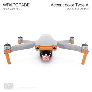 <img class='new_mark_img1' src='https://img.shop-pro.jp/img/new/icons12.gif' style='border:none;display:inline;margin:0px;padding:0px;width:auto;' />WRAPGRADE for DJI Mavic Air 2 アクセントカラー A バタフライコパー