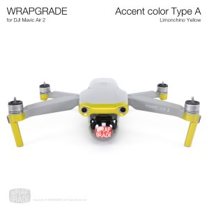 <img class='new_mark_img1' src='https://img.shop-pro.jp/img/new/icons12.gif' style='border:none;display:inline;margin:0px;padding:0px;width:auto;' />WRAPGRADE for DJI Mavic Air 2 アクセントカラー A リモンチーノイエロ