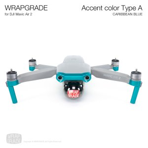 <img class='new_mark_img1' src='https://img.shop-pro.jp/img/new/icons12.gif' style='border:none;display:inline;margin:0px;padding:0px;width:auto;' />WRAPGRADE for DJI Mavic Air 2 アクセントカラー A カリビアンブルー