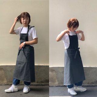 gray apron デニム エプロン