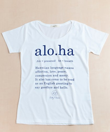 【LADIES】alo.ha Tee / alo.ha Tシャツ
