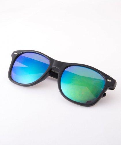 【LADIES】Sunglasses BLACK×BLUE / サングラス シルバーフレーム