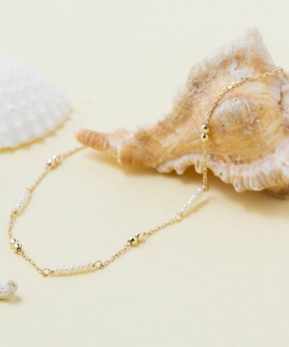 【LADIES】ISLANDS×Lilly&Emma Collabo Collection Small Pearl bracelet