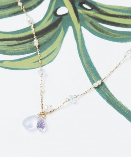 【LADIES】ISLANDS×Lilly&Emma Collabo Collection blue chalcedony anklet