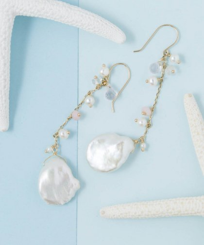 【LADIES】ISLANDS×Lilly&Emma Collabo Collection Poppy Pearl Pierced earring / ポピー パール イヤリング