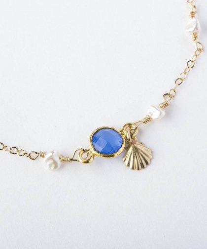 【LADIES】Lino by me Hawaii Shell motif bracelet / シェル モチーフ ブレスレット