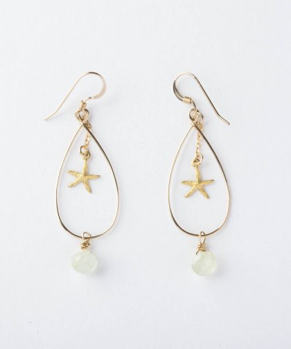 【LADIES】Lino by me Hawaii Star fish motif Pierced earring / スターフィッシュ モチーフ イヤリング