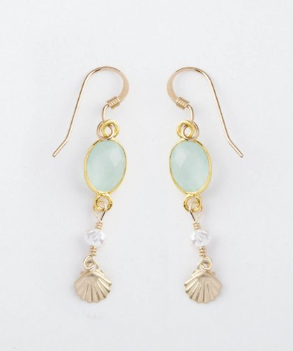 【LADIES】Lino by me Hawaii Shell motif pierced earring / シェル モチーフ イヤリング