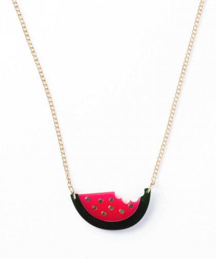 【LADIES】Watermelon Motif Necklace / ウォーターメロン モチーフ ネックレス