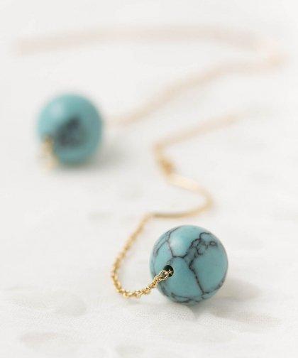 【LADIES】Lan Vo Turquoise  Pierced Earring / ターコイズ ピアス