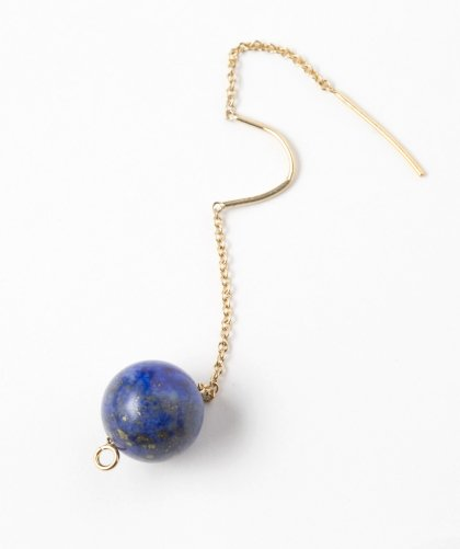 【LADIES】Lan Vo Swing Type Lapis lazuli Pierced Earring / ラピス ラズリ イヤリング
