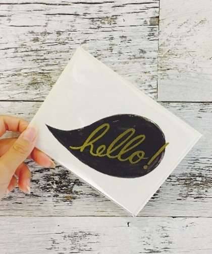 Message Card「hello」/ メッセージカード「hello」