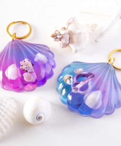 Shell Key Ring