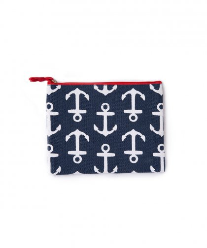 Mud pie Linen Clutch Bag Crab