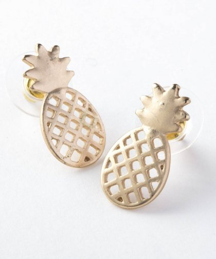 【LADIES】Large Pineapple Pierced Earring / ラージ パイナップル ピアス