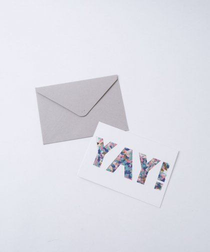Confetti Message Card 「YAY!」/ 封筒付き メッセージカード
