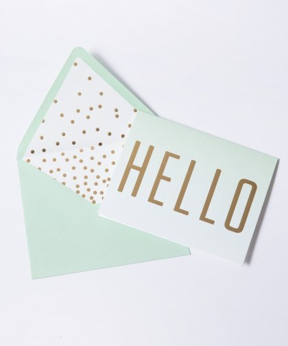 12 Blank Notes With Lined Envelopes Message Card Set「HELLO」/ メッセージカード セット