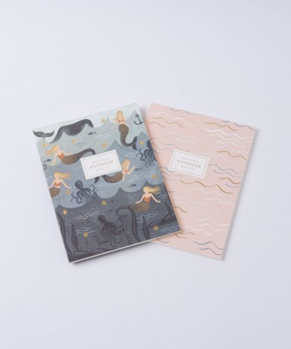 Note Book Mermaid&Pink Set of 2 /マーメイド&ピンク ノートブック セット