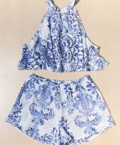 【LADIES】Show Me Your Mumu Sawyer Bottoms / BLUE×WHITE ショートパンツ