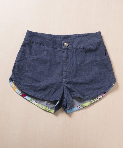 【LADIES】ALLISON IZU Navy Shorts / ネイビー ショートパンツ