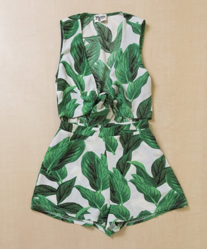 【LADIES】Show Me Your Mumu Leaf Rompers/リーフ柄ロンパース