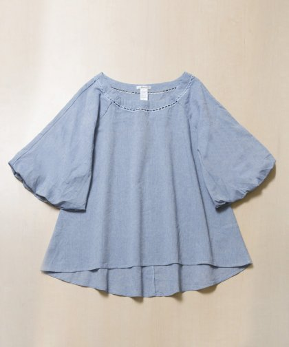 <img class='new_mark_img1' src='//img.shop-pro.jp/img/new/icons14.gif' style='border:none;display:inline;margin:0px;padding:0px;width:auto;' />【LADIES】Esley Blue Tunic Tops / ブッファンスリーブトップス