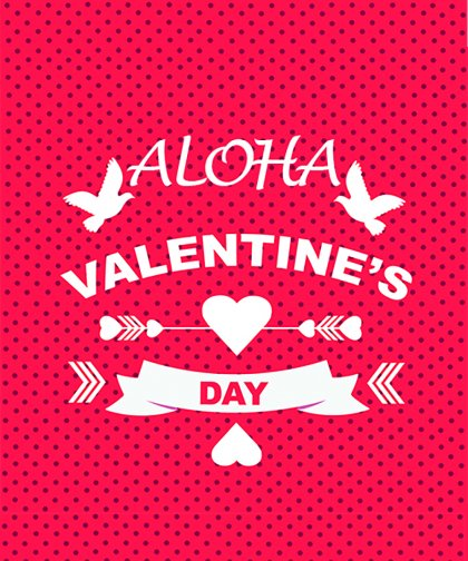 【特別企画★22%OFF】【UNISEX】ALOHA Valentine's Day! Sweat Shirt & Zip Hoodie 2set 22%Off!