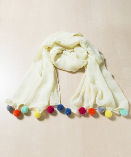 Love Of Fashion Pompom Shawl