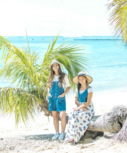 【LADIES】Lilly&Emma×earth デニムロンパース