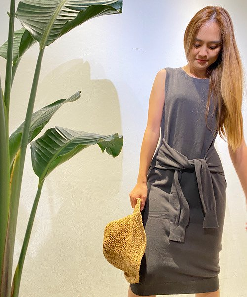 【LADIES】ELLISON Wrap&tie Sweater Dress