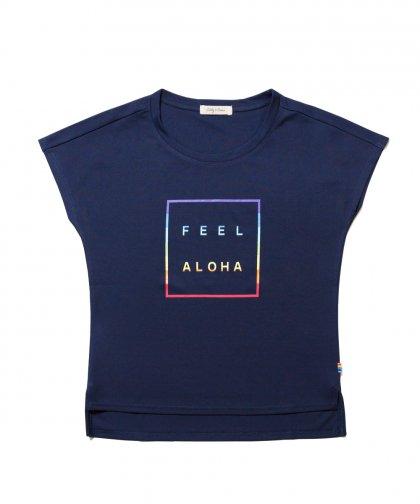 [LADIES] [テニスウェア] FEEL ALOHAグラデーションTシャツ