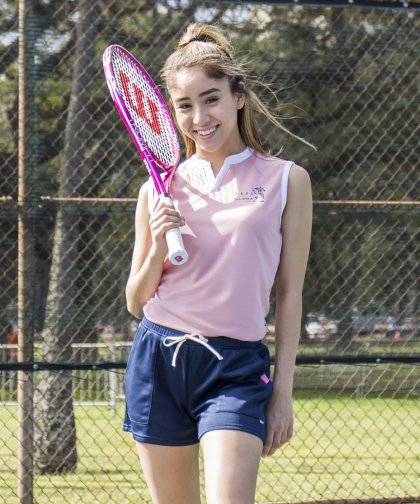 [LADIES] [テニスウェア] FEEL ALOHA ノースリーブ