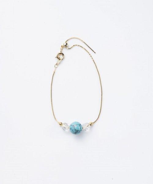 【LADIES】Lan Vo Turquoise × Quartz Bracelet/ターコイズ×クォーツ ブレスレット