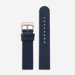 NAVY LEATHER 20mm (ROSEGOLD)