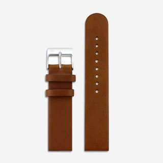 BROWN LEATHER 20mm (SILVER)