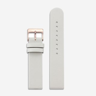 OFFWHITE LEATHER 20mm (ROSEGOLD)