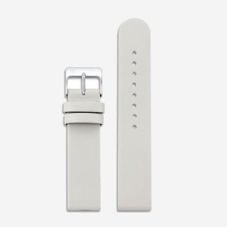 OFFWHITE LEATHER 20mm (SILVER)