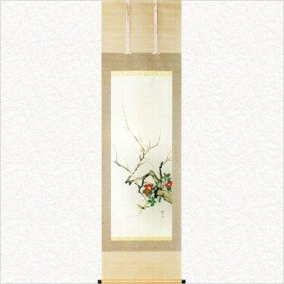 一月「梅椿に鶯図」- 十二ヶ月花鳥図より